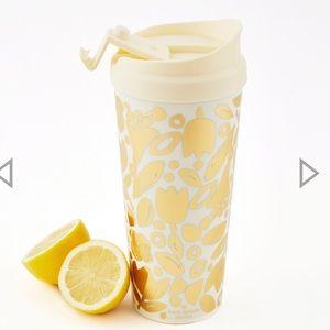 Kate Spade Gold Floral Travel Mug Tumbler